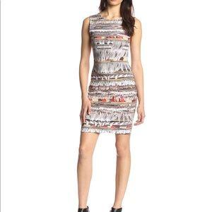 Mara Hoffman Neoprene Fringe Print Mini dress